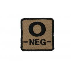 ID. krevní skupiny na suchý zip - 0 - NEG - písková