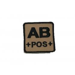 ID. krevní skupiny na suchý zip - AB - POS - písková
