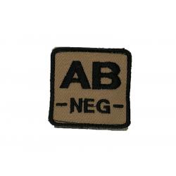 ID. krevní skupiny na suchý zip - AB - NEG - písková