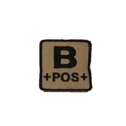 ID. Blood velcro - B-POS - tan