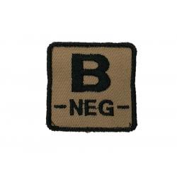 ID. krevní skupiny na suchý zip - B - NEG - písková