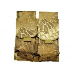 KJ.Claw M4 Double magazine pouch Molle (Kryptek Nomad)