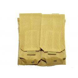 KJ.Claw M4 Double magazine pouch Molle (TAN)