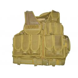 KJ.Claw Cross Draw 600D vest (TAN)