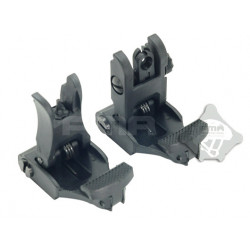 FMA 71L F/R Folding Sight Set (BK)