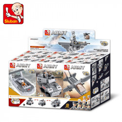 Set of 9 separate building kit - Aircraft ship - 9 in 1