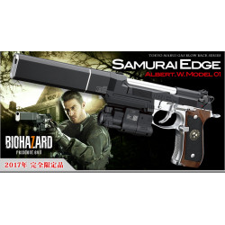 Tokyo Marui Samurai Edge Gas Blowback Pistol ( Albert.W.Model 01 ), limited edition