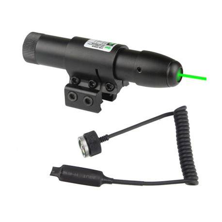 Green laser with RIS and barrel mount