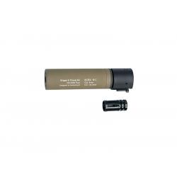 B&T ROTEX C - III Barrel extension tube(silencer), TAN