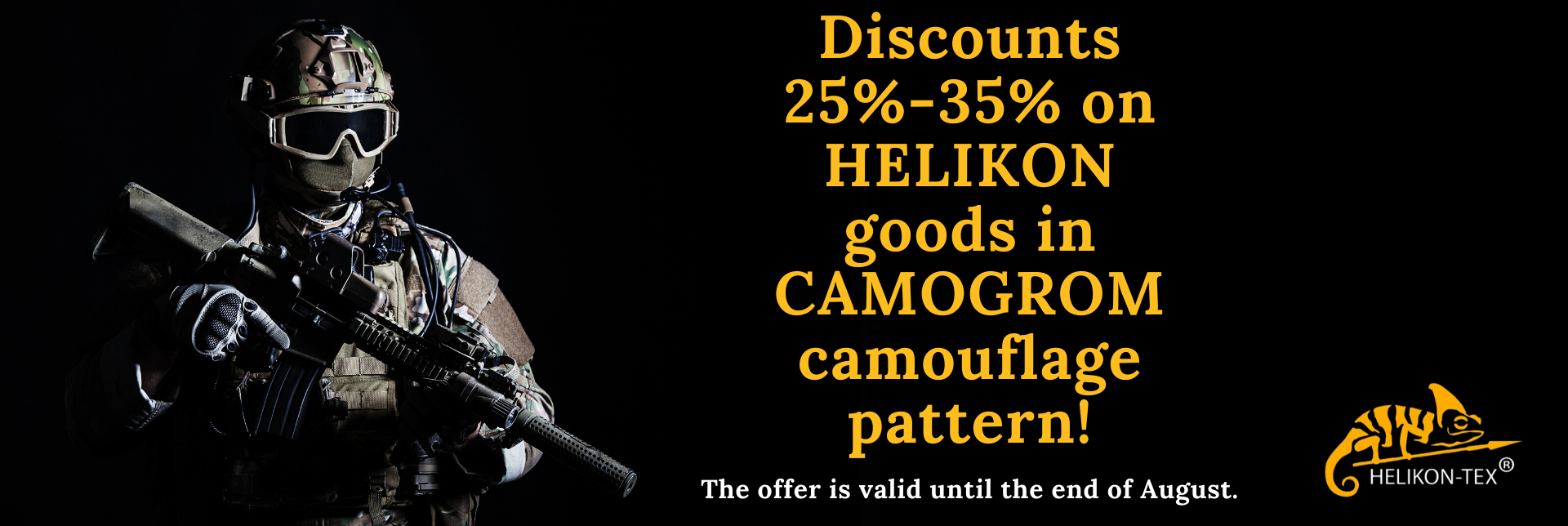 Discounts of Helikon goods!!!